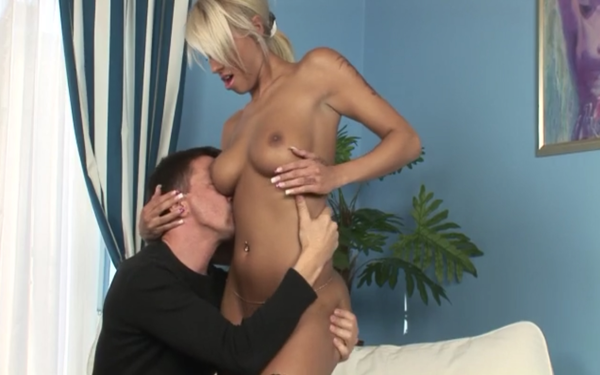Hot blonde maid fucks and sucks cock