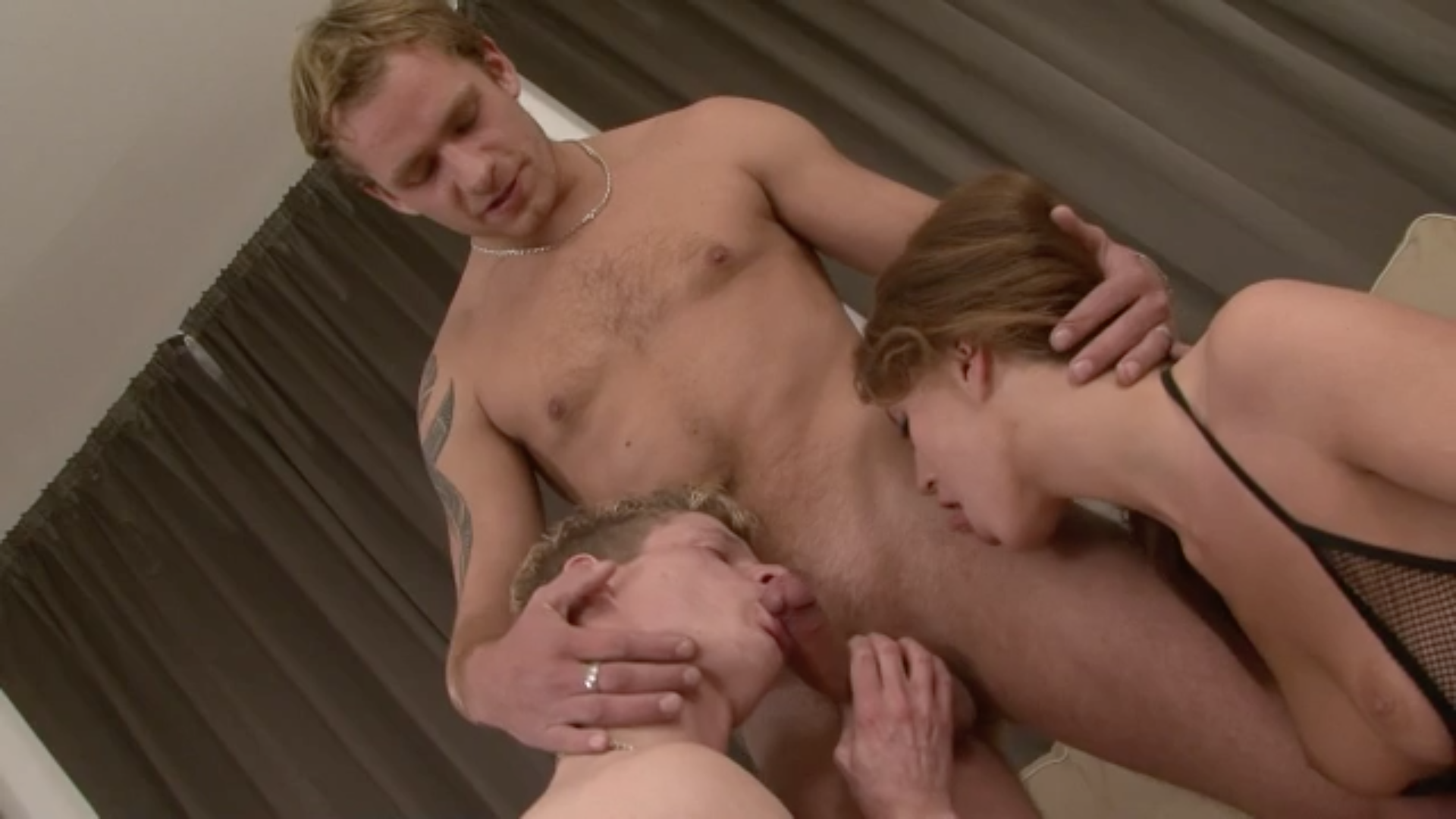 slut gets fucked by two guys
